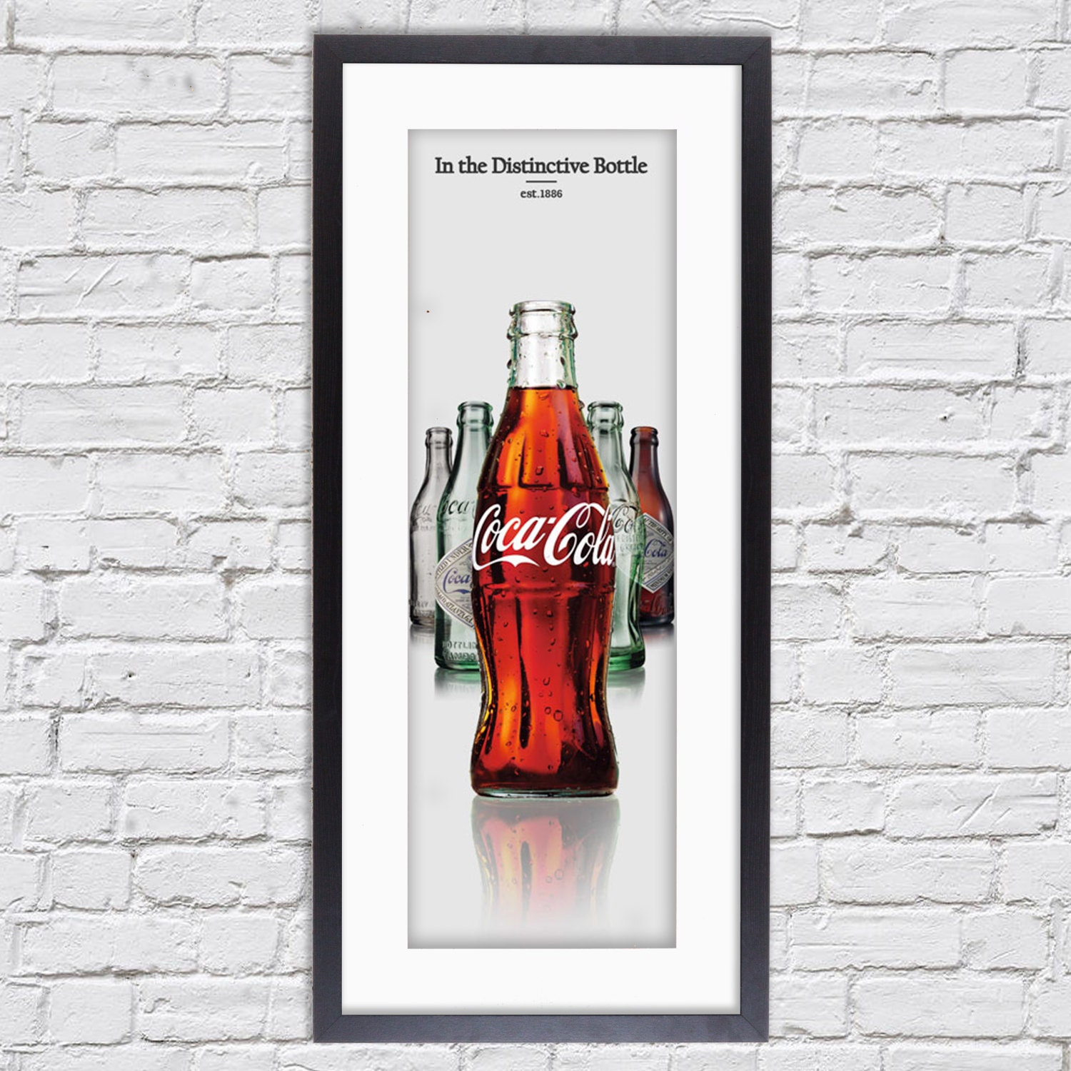 Coca Cola deco  Mounted  Framed Poster Art Print  43 x 19.5 Inches  ( 109.2 x 49.5 cm )