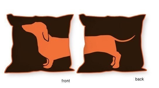 AMUSING DACHSHUND PILLOW FROM HAPPY HOT DOG COLLECTION