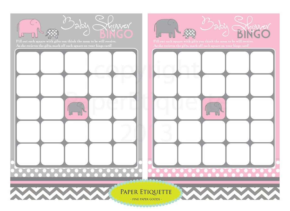 instant upload 4 baby shower bingo and word search game cards