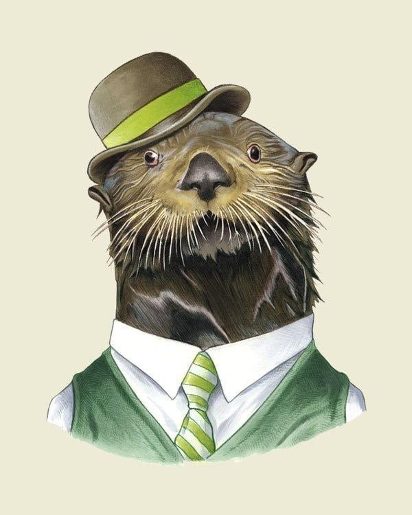 Sea Otter print 8x10