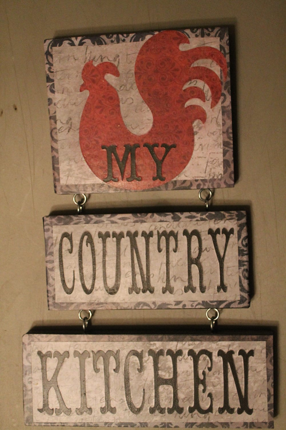Rooster Decor Country Kitchen Sign Rooster By