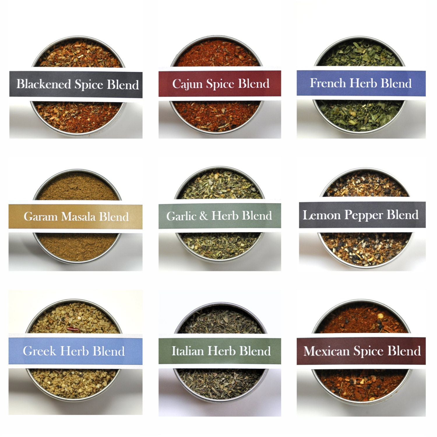 CHOOSE 3 LARGE Herb Spice Blends, Spices, Spice Kit, World Flavors ...