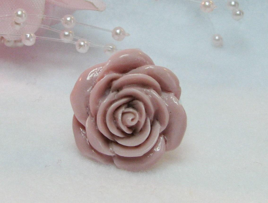 Large Flower Ring, Pink Rose Flower Ring, Adjustable Rose Ring, Statement Ring, Cocktail Ring, Celebrity Style