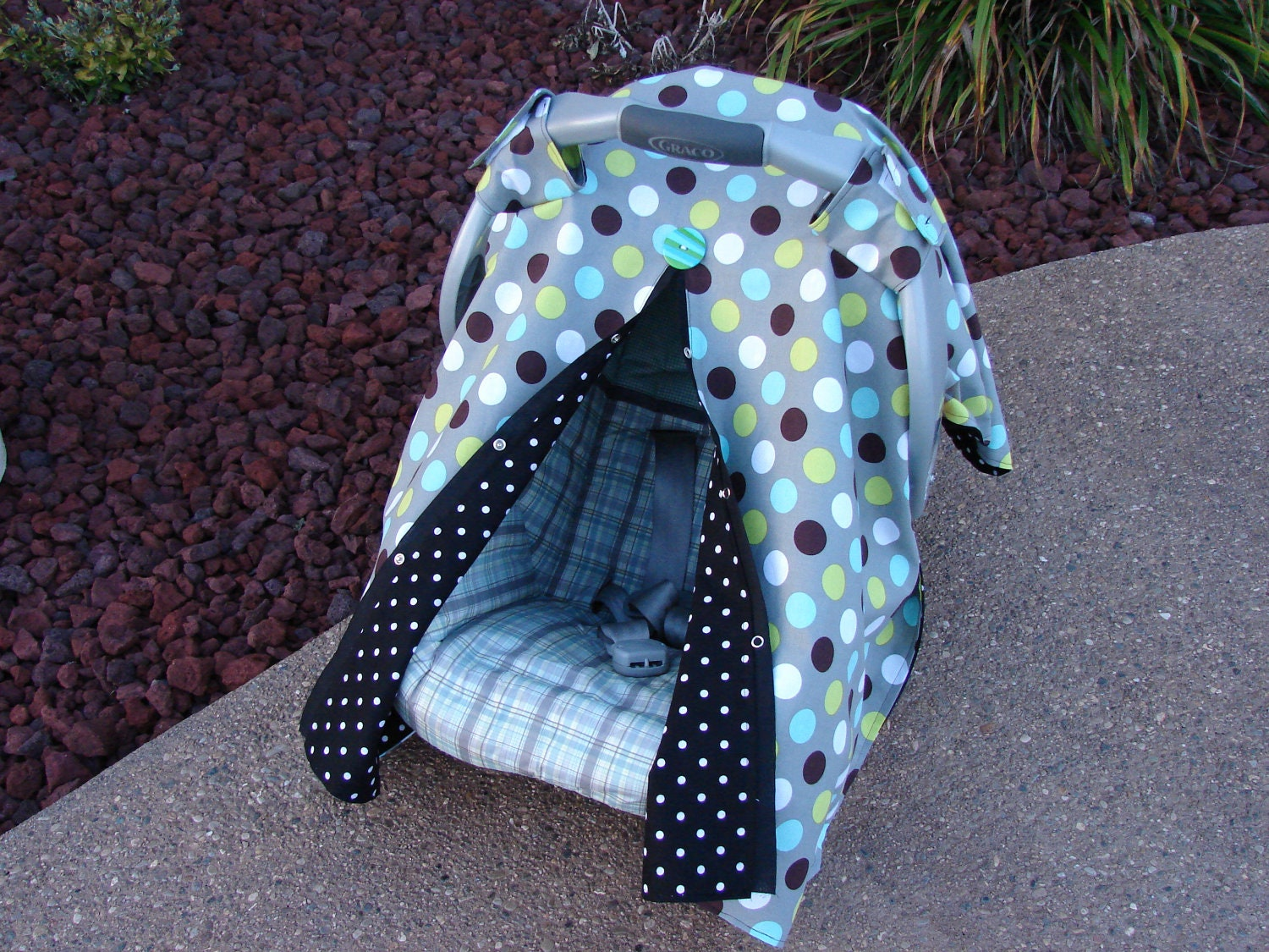 cute baby car seat cover canopy free by gigglesngrinsboutiqu. Black Bedroom Furniture Sets. Home Design Ideas