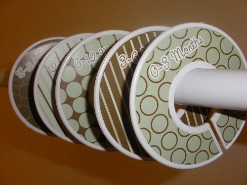 Trendy Sage and Brown - Custom Clothing Closet Dividers