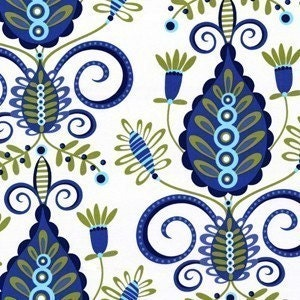 Pillow and Maxfield by Michael Miller,Large Whimsy Dozzie in Blue, Whimsy Fabric, 1 Yard