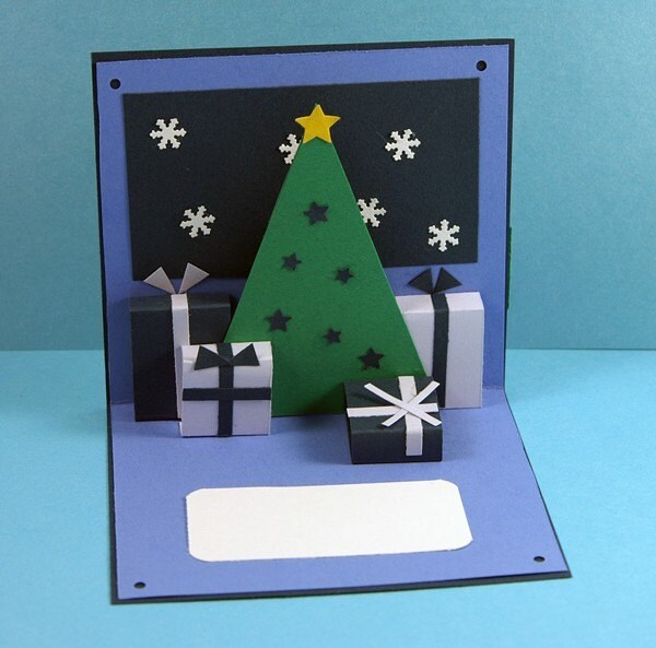 Blue Christmas Holidays Pop up Card