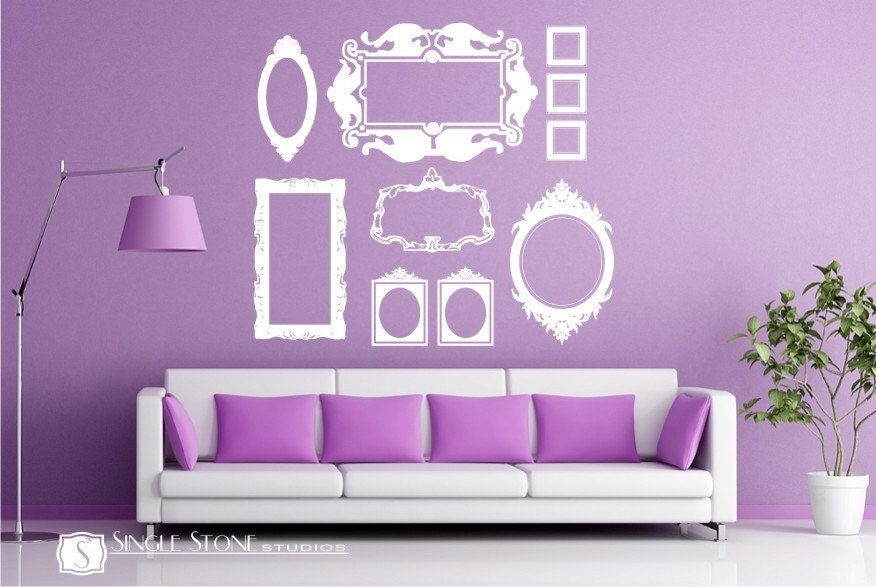 frame wall decals baroque collection large by singlestonestudios. Black Bedroom Furniture Sets. Home Design Ideas