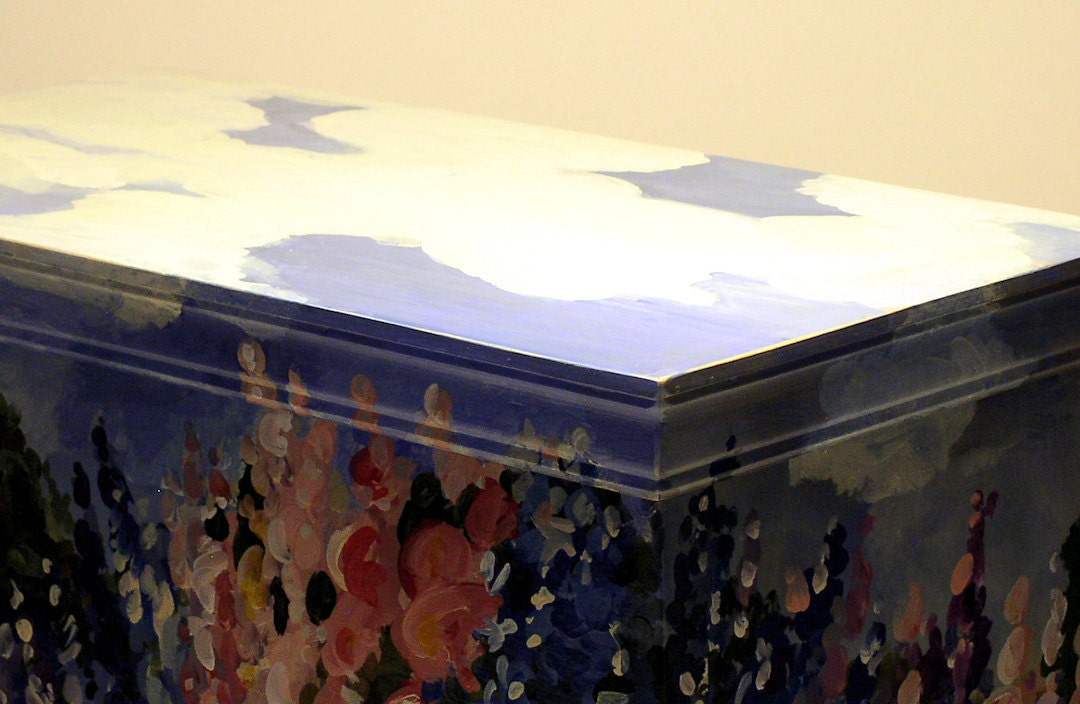 Painted Furniture Farmhouse Cottage Storage Trunk