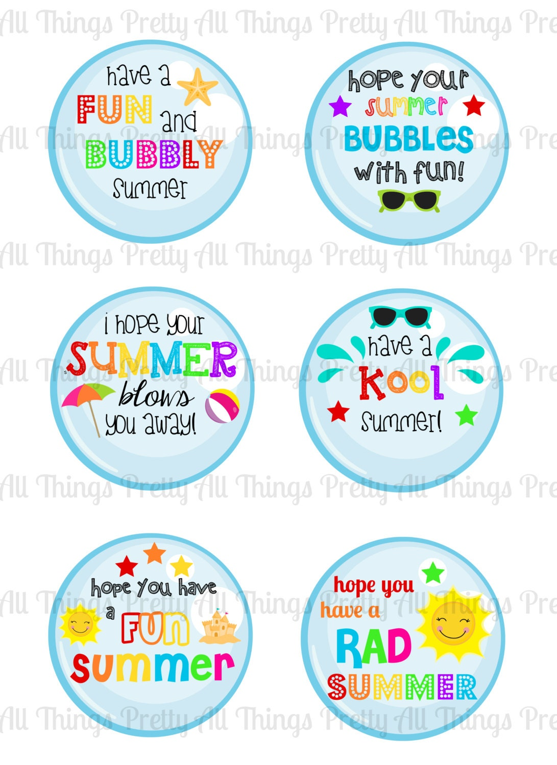 INSTANT DOWNLOAD - Summer Tags - End of school year ...