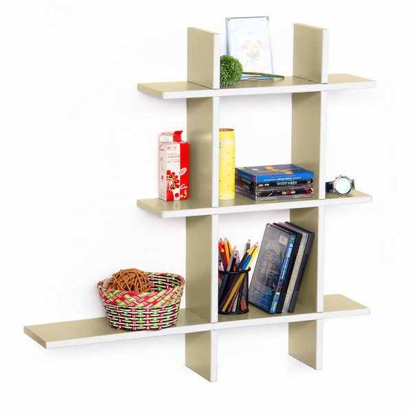 Trista - [Brief & Elegance-A] Leather Cross Type Shelf / Bookshelf / Floating Shelf (5 pcs) TRI-WS243-CRO-A - ElsaTrista