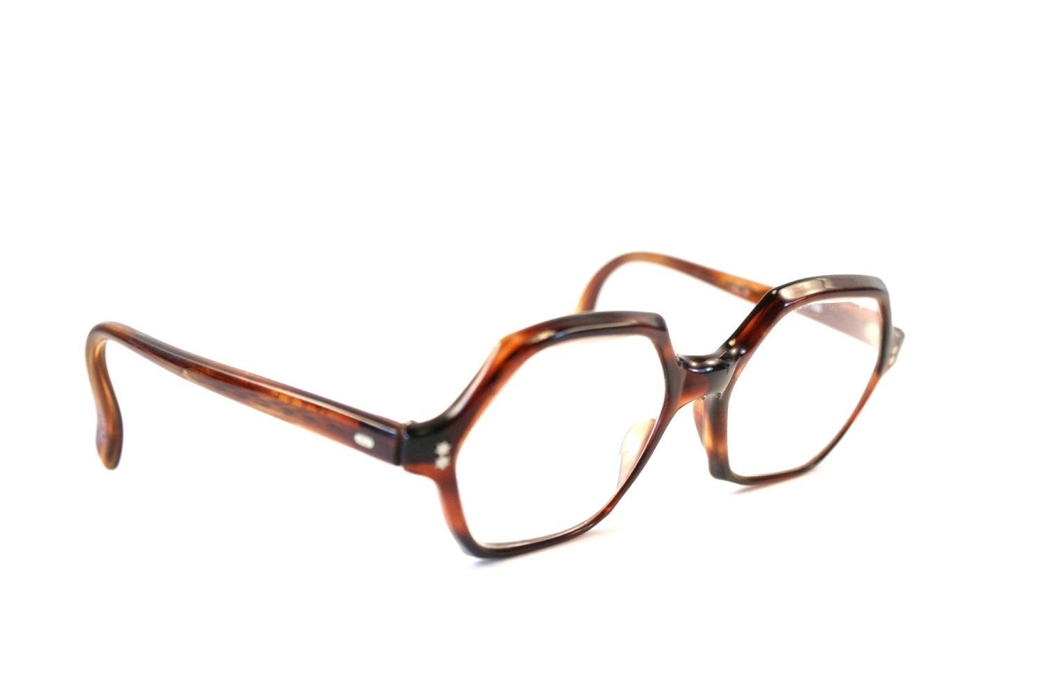 Plastic Glasses Frame Bent : Vintage Geeky Glasses Plastic Tortoise Shell by ...