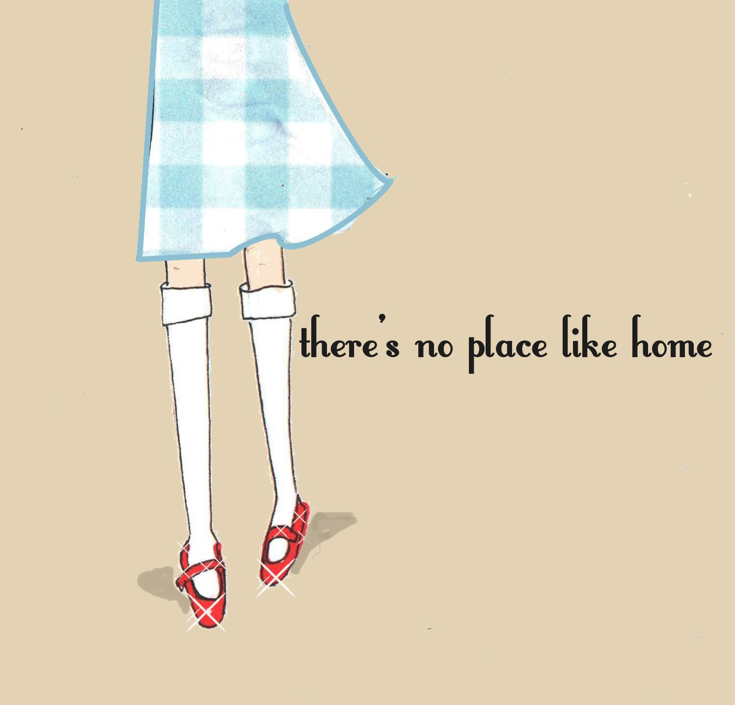 Wall art there 39 s no place like home by rosehilldesignstudio for Art sites like etsy