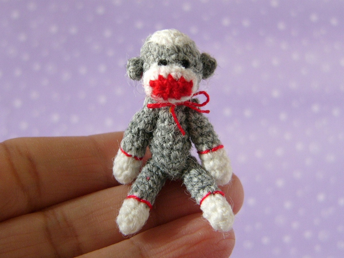 Amigurumi Crochet Sock Monkey : PDF PATTERN Amigurumi Crochet Tutorial Pattern by ...