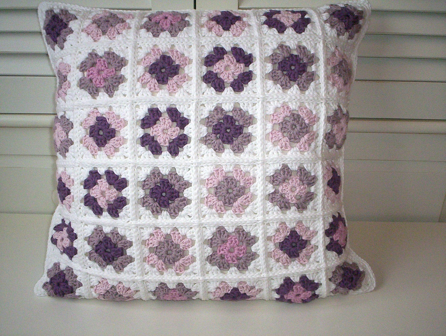 organic cotton crochet cushion cover