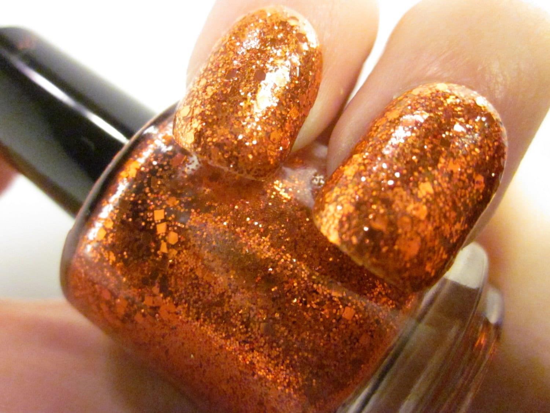 Pumpkin Pasties -Orange & Red Glitter Topcoat -Harry Potter inspired ...