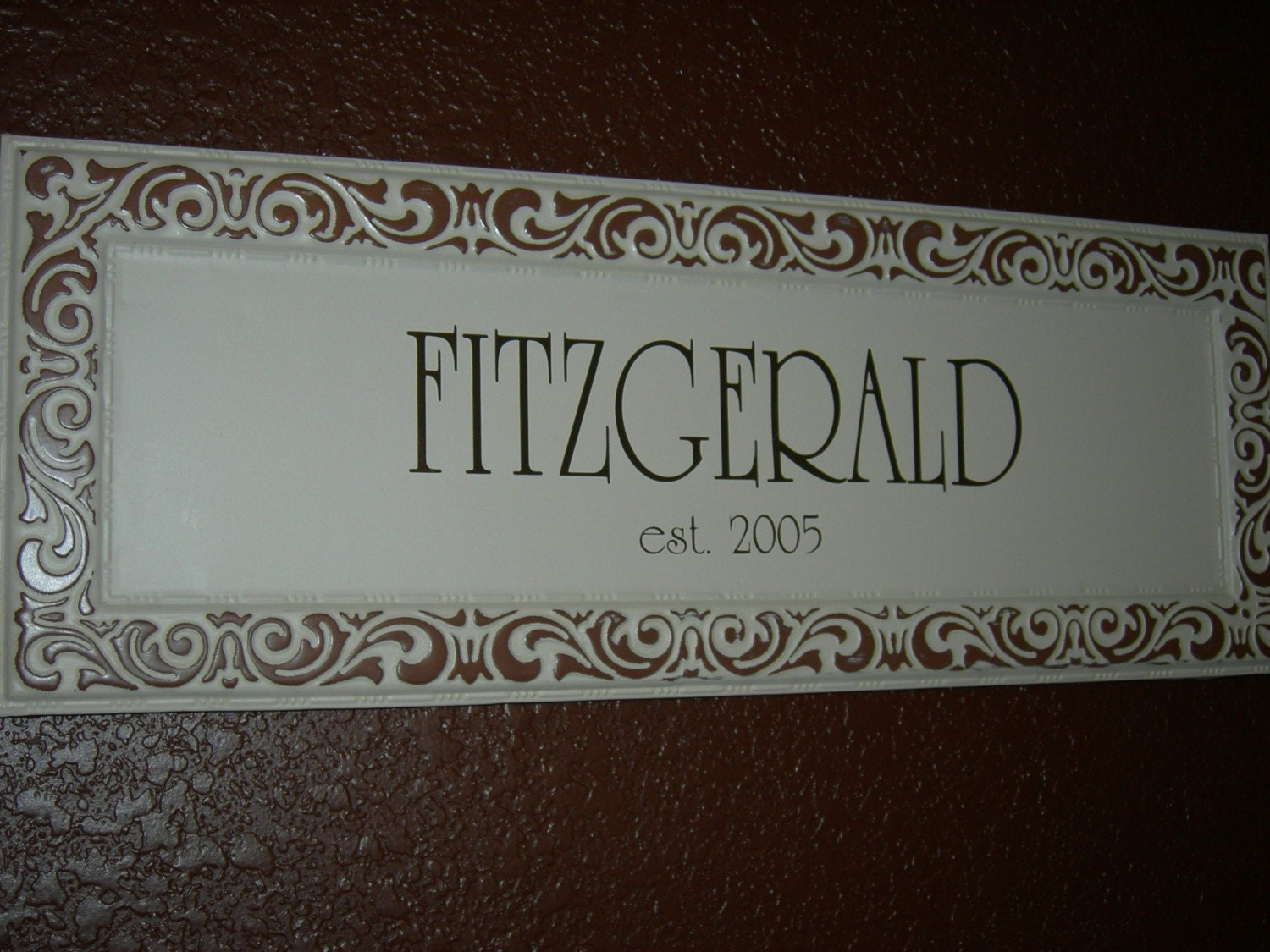 Last Name Signs For Home Metal Last Name Sign Cream