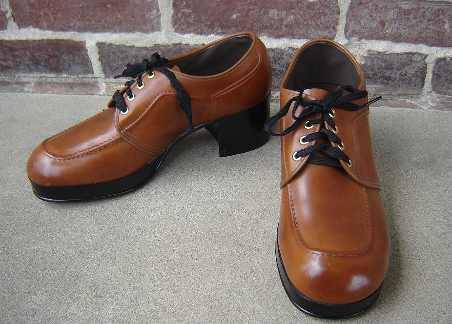 1970s mens platform shoes size 11 by harryshaberdashery on