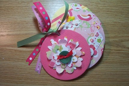 Pink and Green Flower Mini Coaster Album - by HampshireRose by EtsyForCharity on Etsy from etsy.com