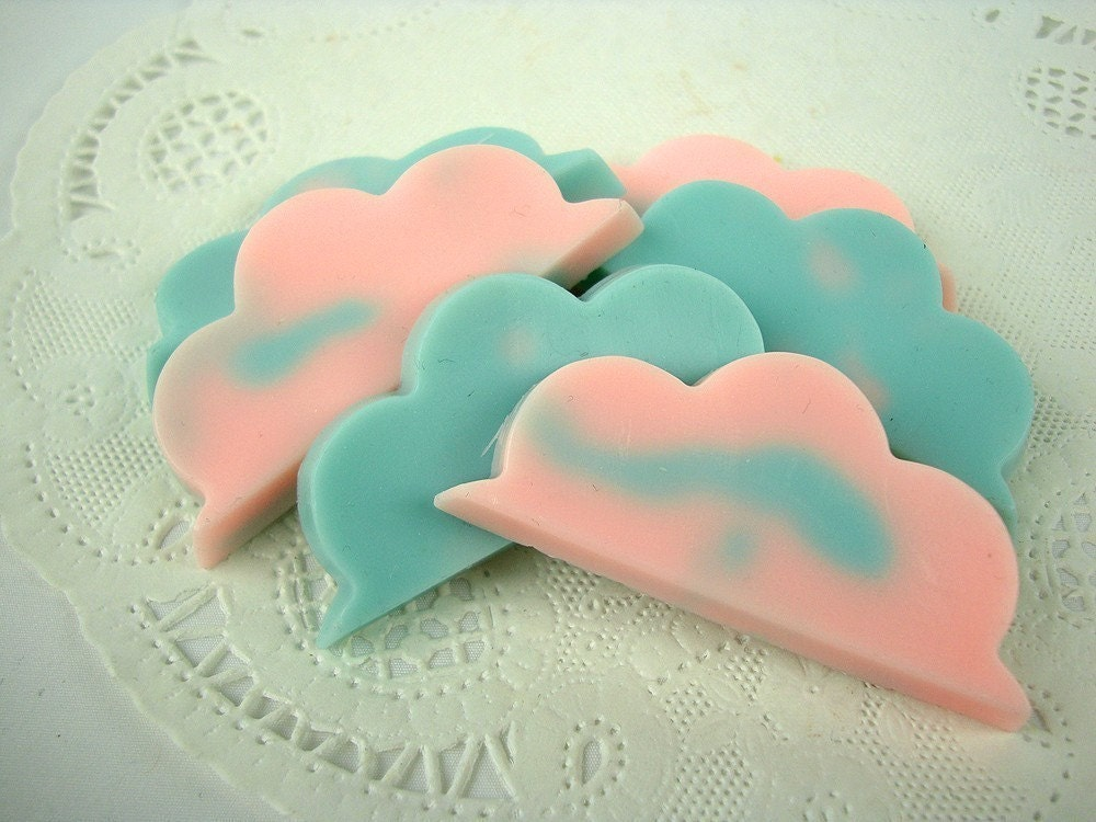 Cotton Candy Clouds - 6 Goat's Milk Guest Soaps