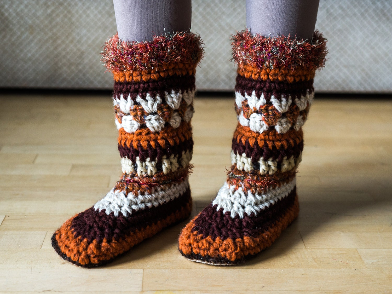 Beautiful Crochet Mukluk Pattern Photo - Easy Scarf Knitting ...