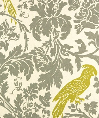 Fabric Barber Bird Premier Prints Summerland grey by
