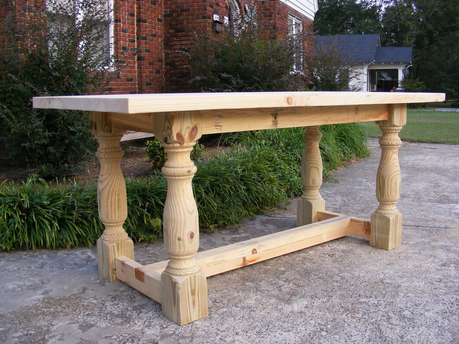 handcrafted solid pine 36 inch dining or by