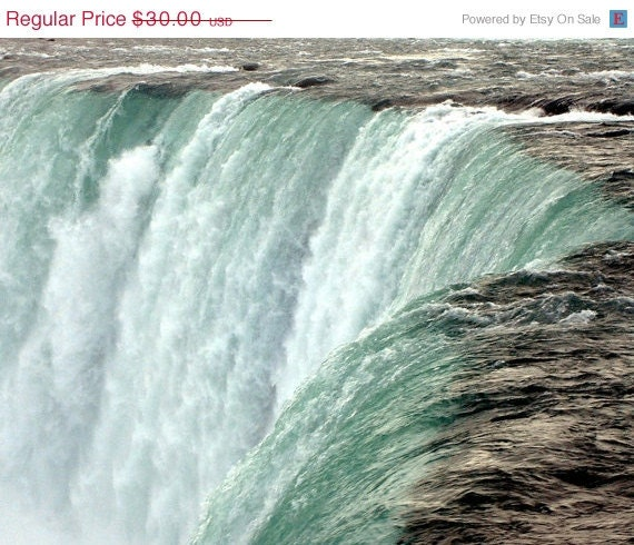 ON SALE Photograph Niagara Falls, 10 x 8, Niagara Falls, Canada, Scenic Travel Photograph, Hear The Roar, Wallenda Walks Across