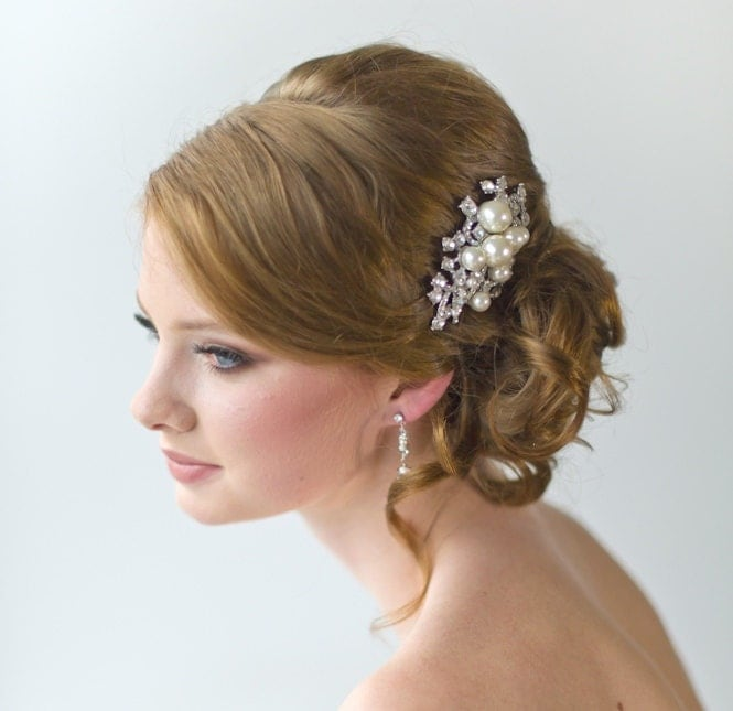 ... Hair Comb, Wedding Hair Accessory, Brooch Style Hair Comb, Bridal Hair