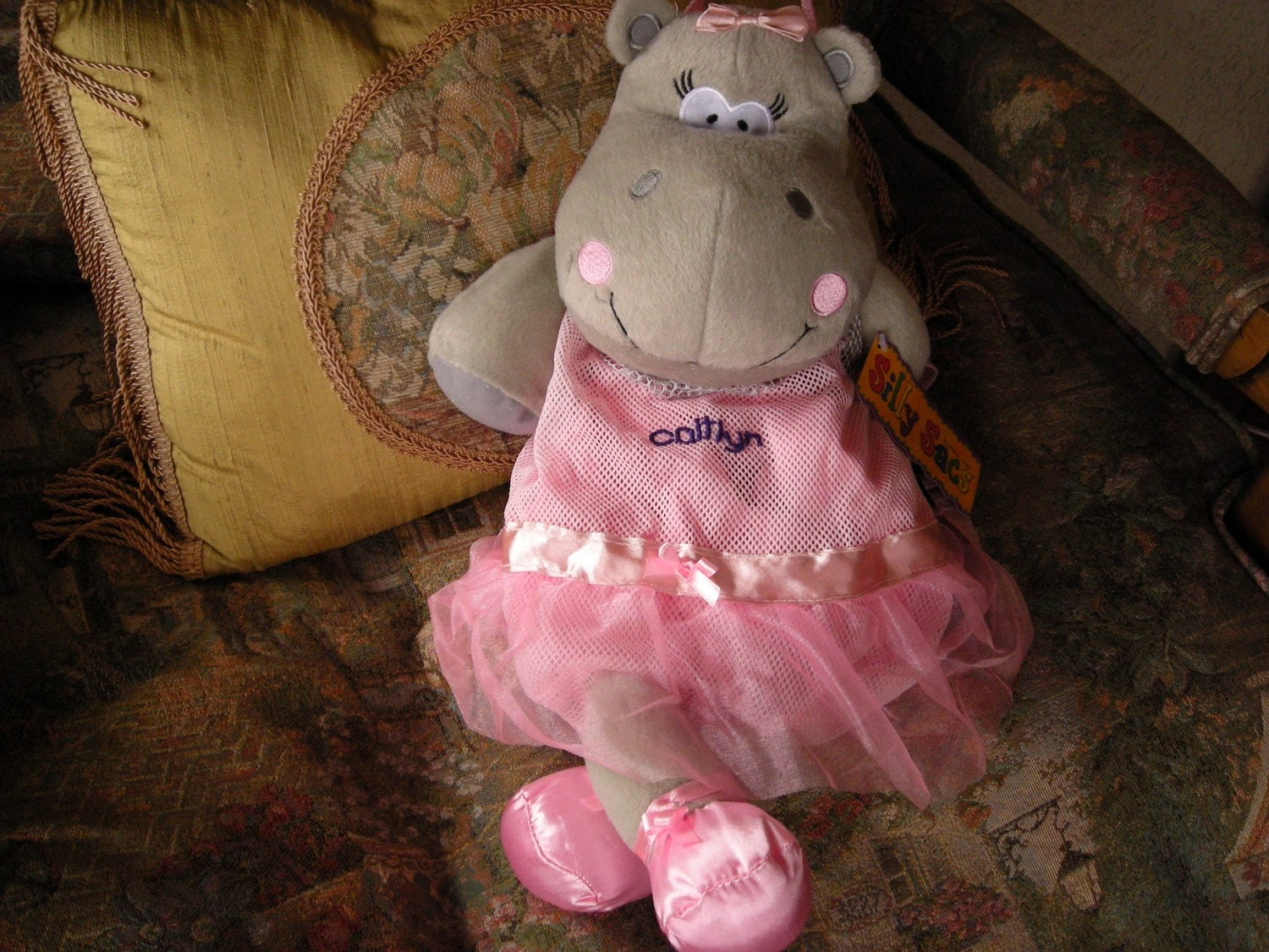 Personalized Stephen Joseph Silly Sac Dancing Hippo by Never Felt Better
