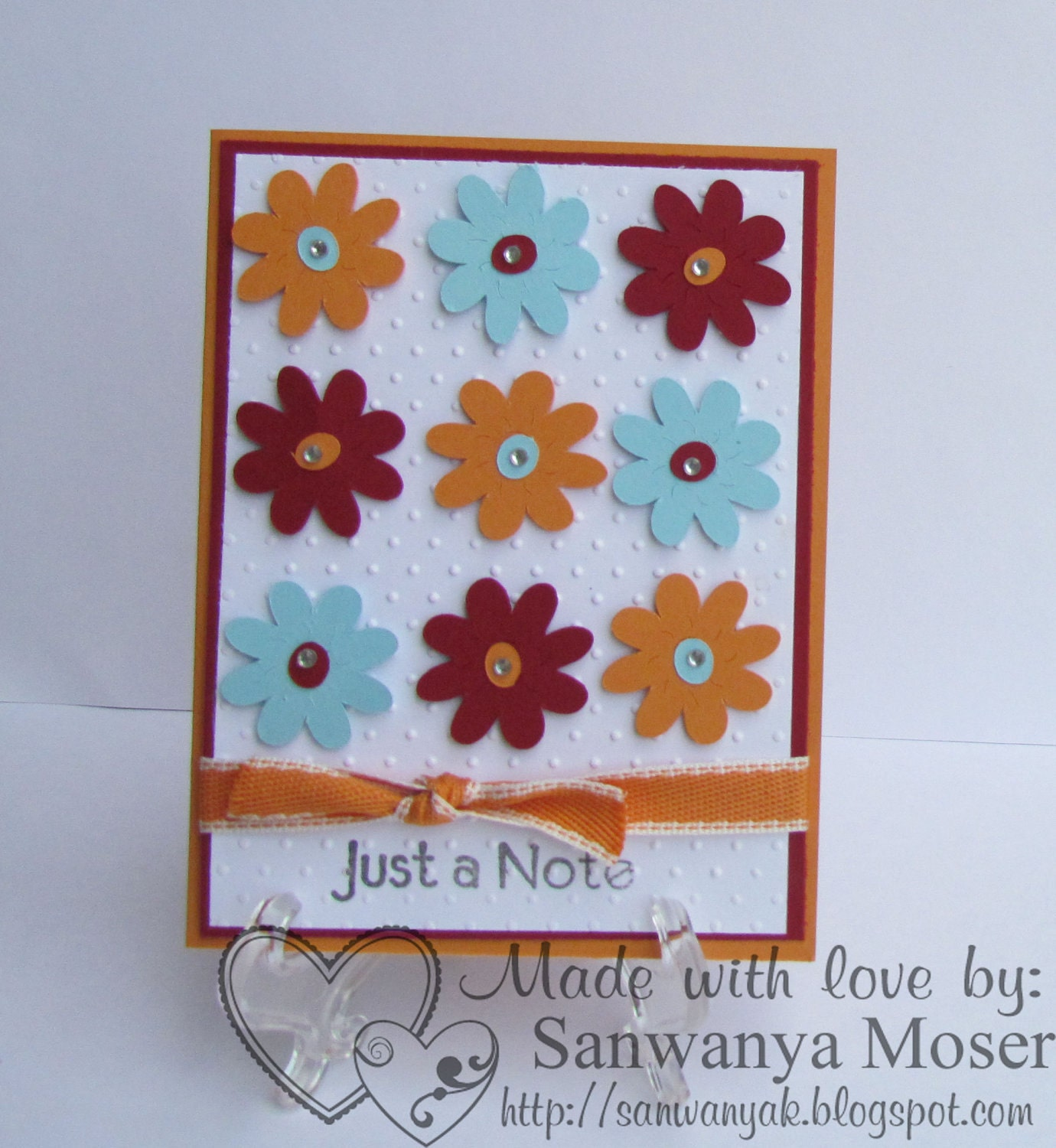 Just a Note Handmade Card..buy one get one half off sale on cards