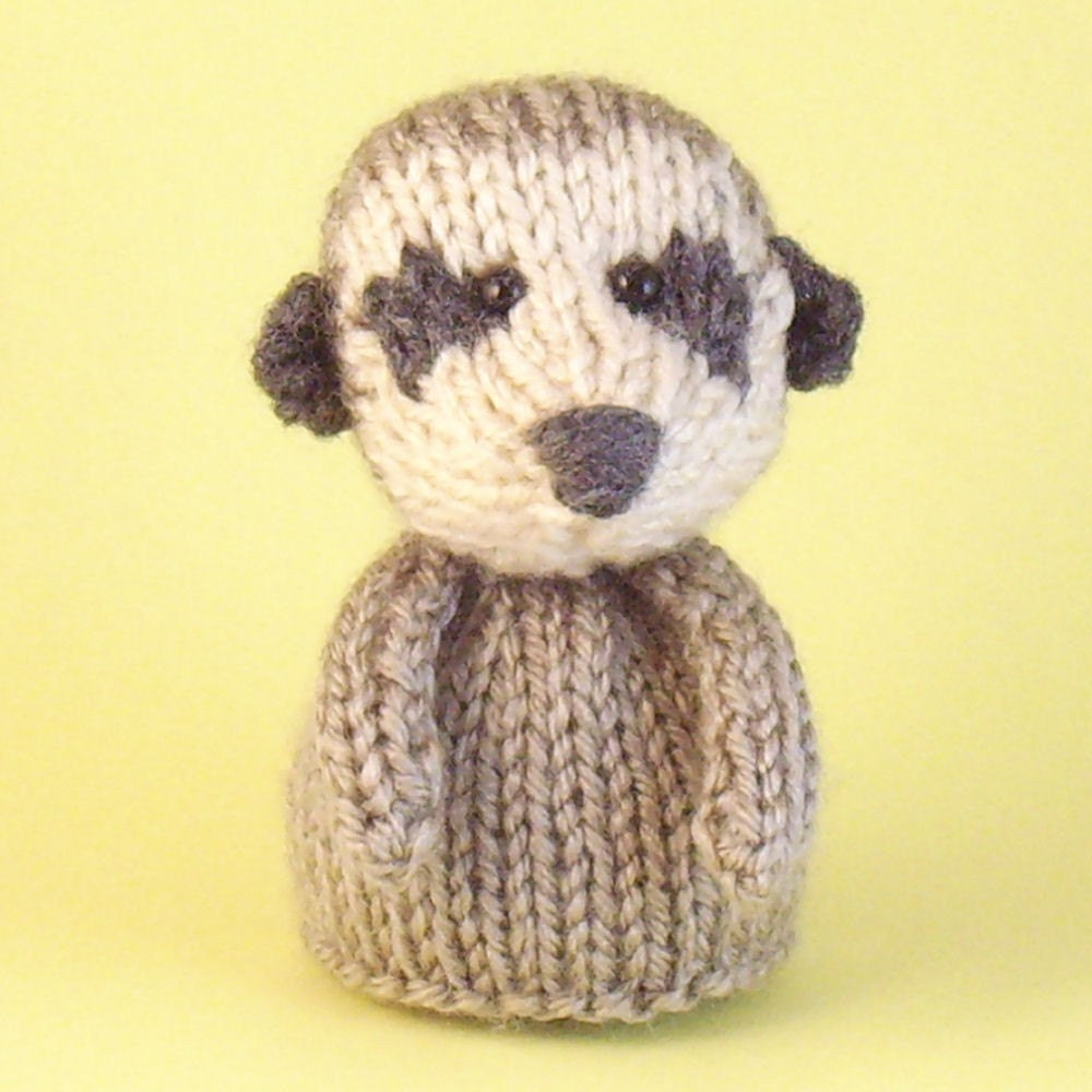 Knitting Patterns For Toys On Etsy : Meerkat Toy Knitting Pattern PDF by Jellybum on Etsy