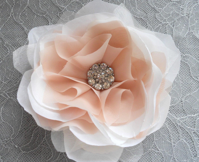 Florence Blush Pink Peony Hair Flower or Dress Pin