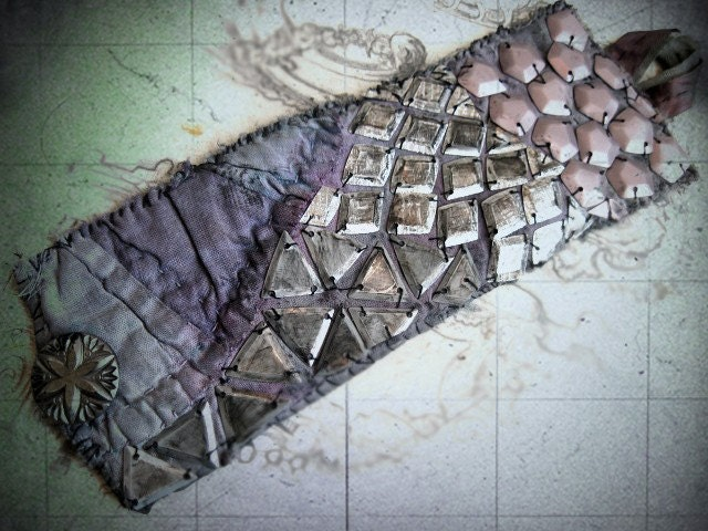 Personal Strata. Cutter Quilt Cuff and Indian Sequins.