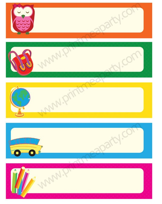 Print n Edit your own labels or bookmarks - PDF editable labels- bookmarks do it yourself by ...