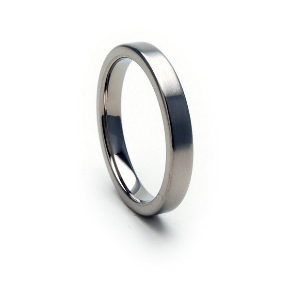 New 3mm Comfort Fit Ring, Custom Titanium Jewelry, Free Sizing Band 4-17