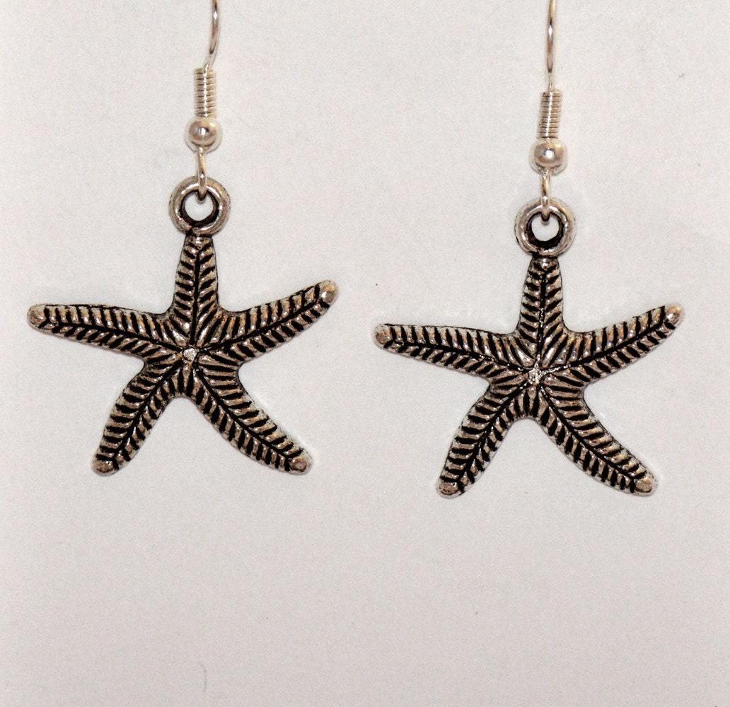 Starfish Earrings on Starfish Earrings On French Hook By Grammysattic12 On Etsy