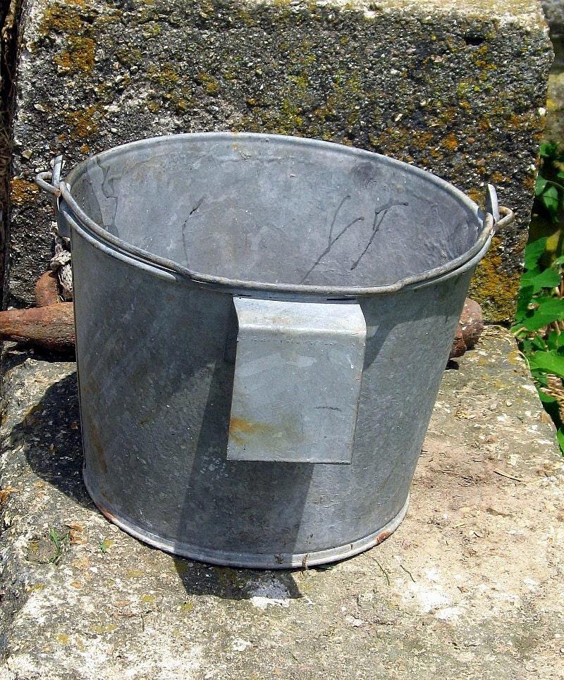 Farm Galvanized Milk Bucket Vintage Storage By