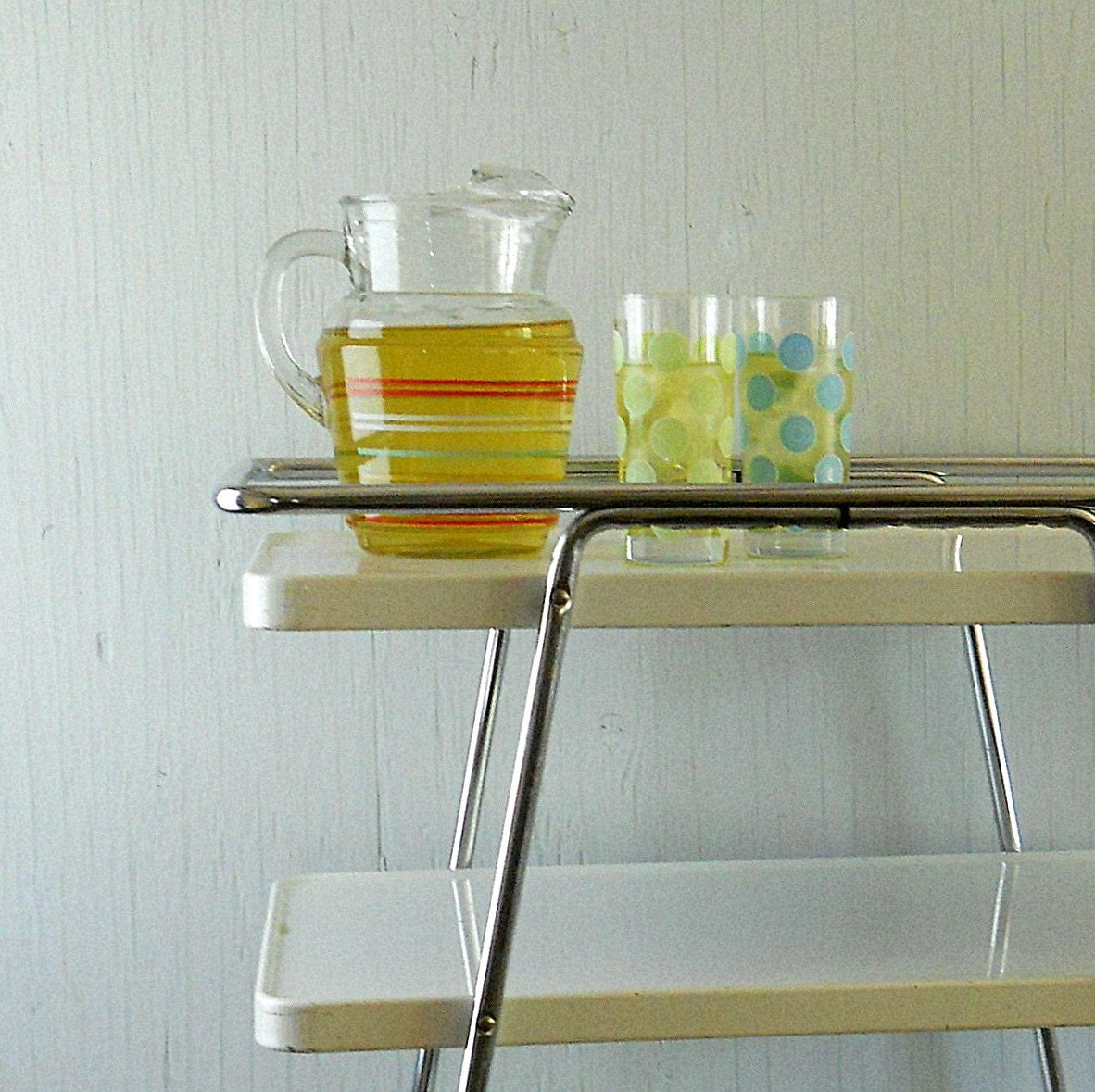 Vintage Rolling Metal Kitchen Cart