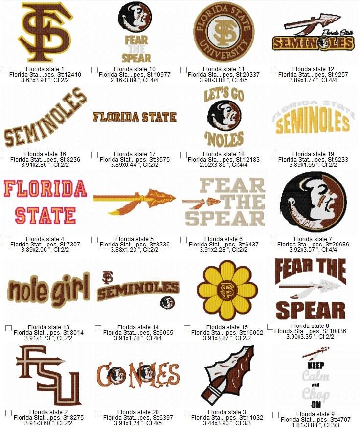 Florida State University Machine Embroidery Designs Free
