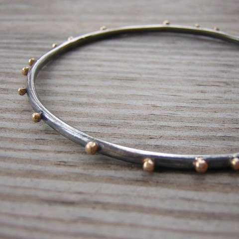 One Garnet girl bangle bracelet