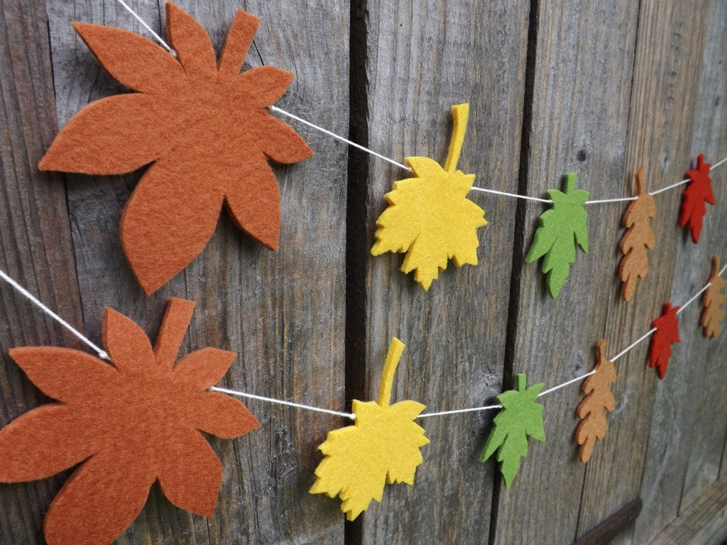 Fall Garland Fall Bunting fall Leaf Autumn leaves Thanksgiving decor Fall leaves oak leaves maple leaves Autumn garland fall decor