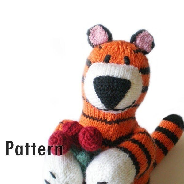 PDF Pattern - Paulo the Charming Tiger - Knitting