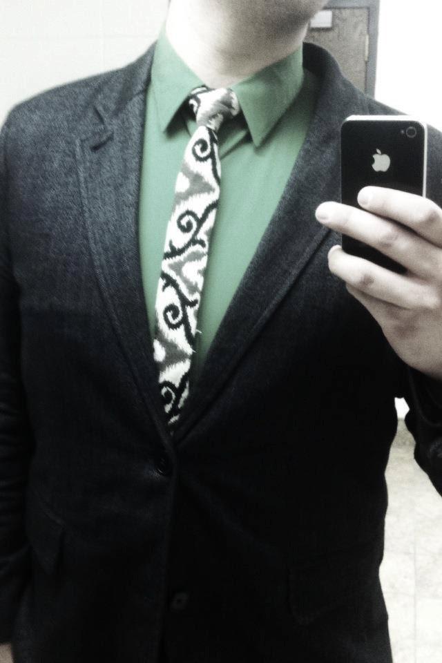 Paul McCall Ikat Scroll Skinny Tie - EWMcCall