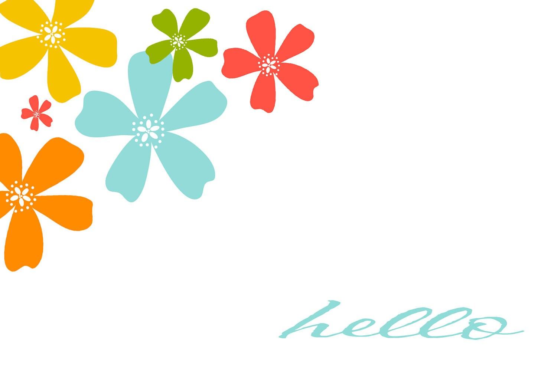Cute Floral Postcard