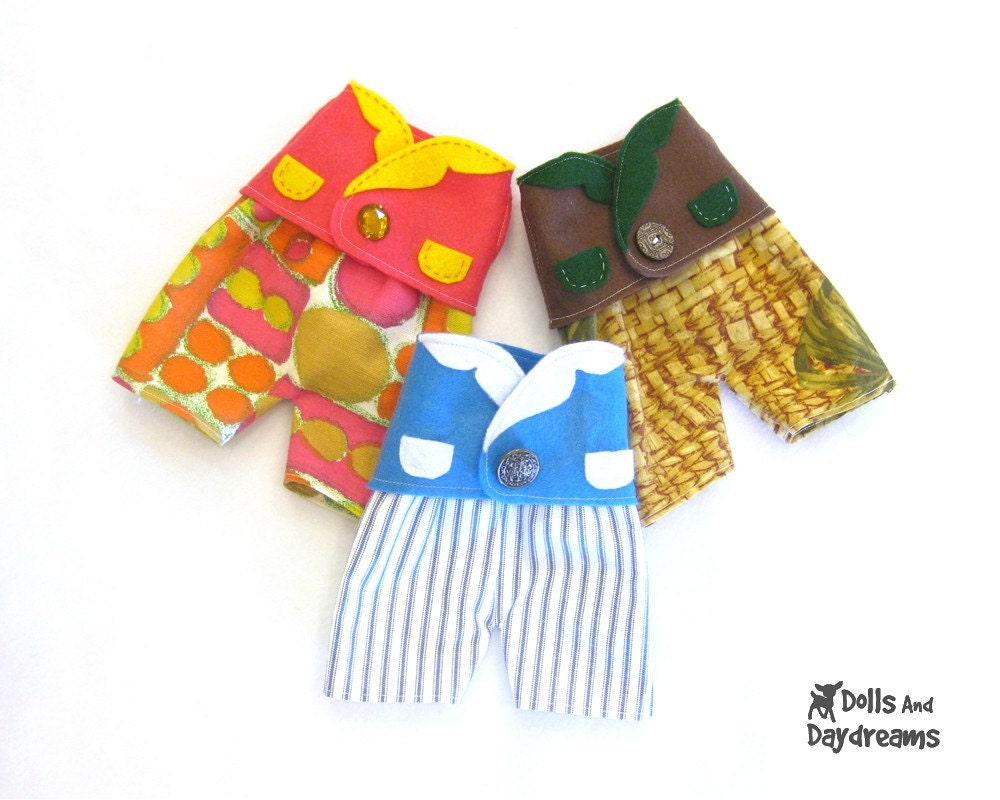 Waistcoat and Shorts, Dress Up Boy and Girl Doll and Stuffed Toy Clothes PDF Sewing Pattern