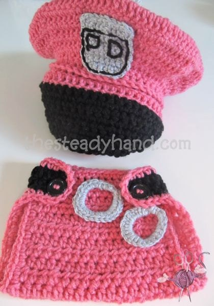 CROCHET PATTERN Newborn Police Hat & Diaper Cover by ...