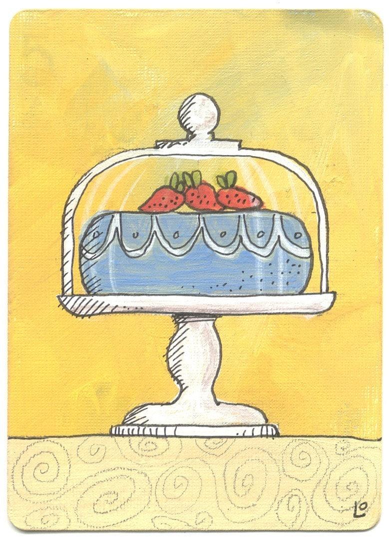 PRINT - Cake Under Glass