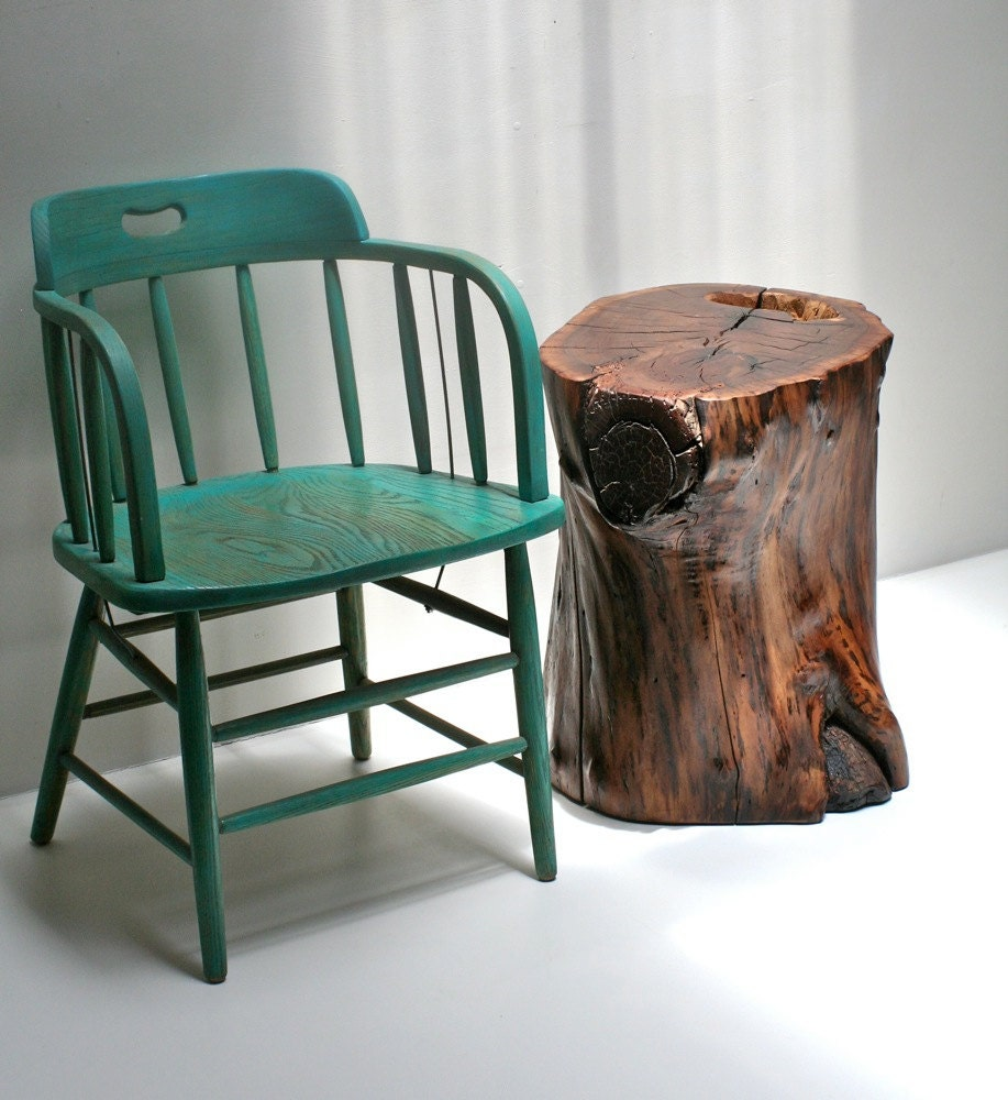 Silver Tree Stump Coffee Table: Walnut Tree Stump Nightstand End Table Bed Side By