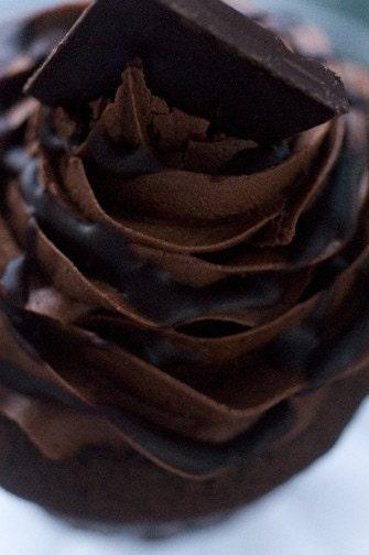 Triple Chocolate Heaven Vegan Cupcakes